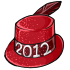2012 Red New Years Hat