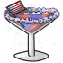 4th of July Martini