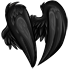 Black Faux Feathered Wings