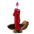 Blood Red Flame Candle