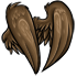 Brown Faux Feathered Wings