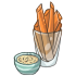 Carrot Sticks with Hummus Dip