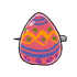 Colored Egg Pin