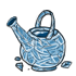 Empty Pristine Watering Can