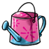Empty Pink Watering Can