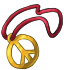 Golden Peace Sign Necklace