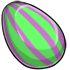 Eggspired Green And Purple Striped Egg