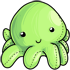 Green Octopus Plushie
