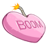 Pink Candy Heart Bomb