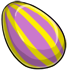 Purple And Yellow Striped Egg