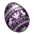 Eggspired Purple Fanciful Egg