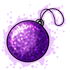 Purple Glitter Ornament