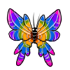 Rainbow Butterfly Sticker