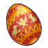 Red Fanciful Egg