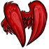 Red Faux Feathered Wings