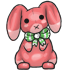Red Festive Bunny Plushie