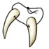 Sabre-Toothed Felione Fangs