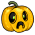 Unhappily Shocked Jack-o-Lantern