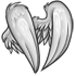 White Faux Feathered Wings