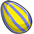 Yellow And Blue Striped Egg