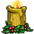 Yellow Holiday Candle